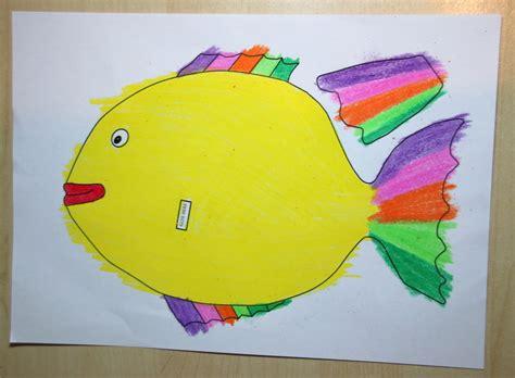 rainbow fish colouring craft  kids   printable