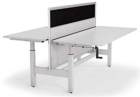 manual height adjustable desk axis double manual height adjustable desk with screen