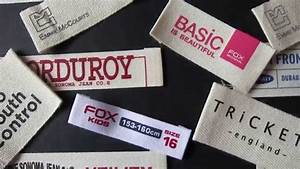 Custom cotton clothing labels and designer clothes labels for How to start a clothing label