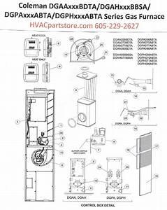 Dgpa070abta Coleman Gas Furnace Parts  U2013 Hvacpartstore