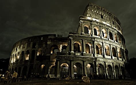 colosseum  rome amazing night view hd wallpapers rocks