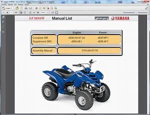 Yamaha Yfm80w - Service Manual