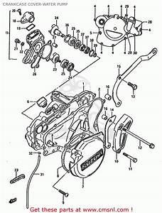 Suzuki Rm125 1986  G  Crankcase Cover-water Pump