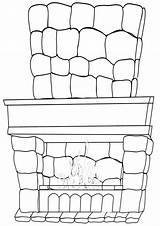 Fireplace Pages Coloring sketch template