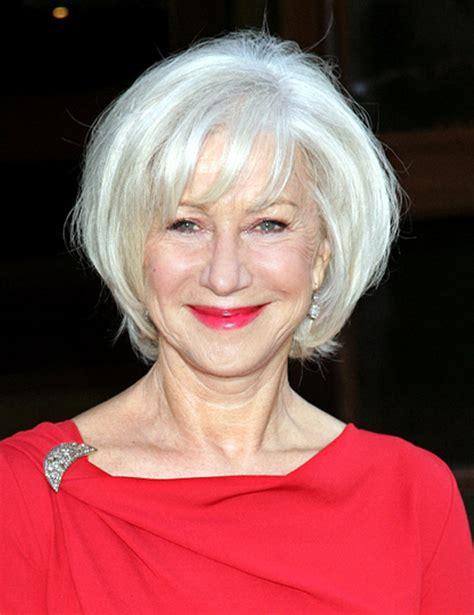 hairstyles  older women  bangs elle hairstyles