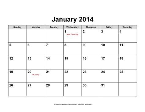 calendar holidays landscape