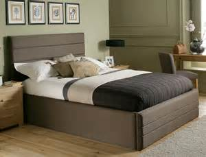 luxury king size bed frame with headboard and storage bedroom home design ideas