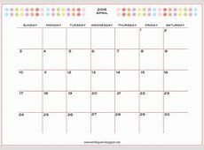 Free printable 2016 planner calendar monthly calendar