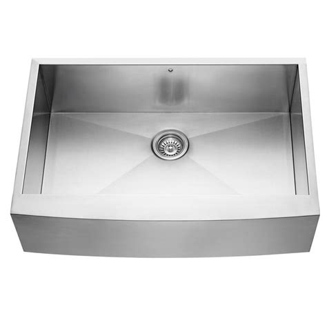 stainless apron front sink shop vigo 33 in x 22 25 in stainless steel single basin