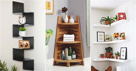 grand floating corner shelf designs   renovation