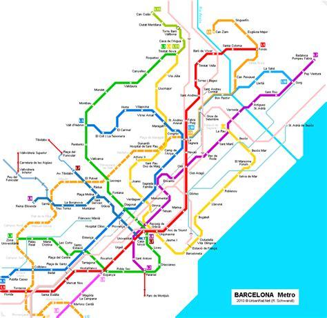 hotel barcelone dans la chambre barcelone carte du métro carte détaillée du