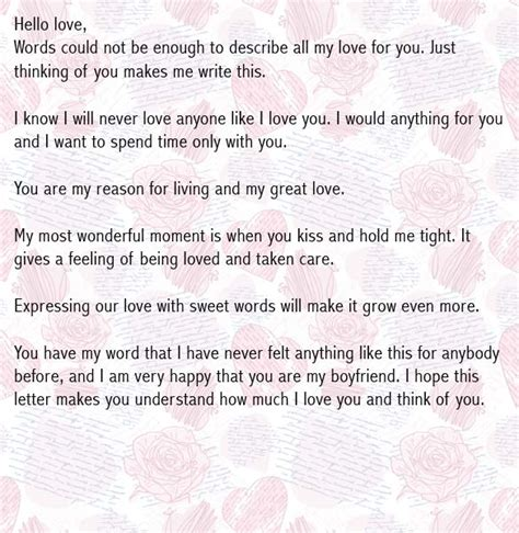 letters for boyfriends letters for boyfriend letter for him