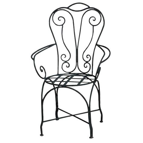 chaise en fer forgé de jardin chaise en fer forgé chaise à bras de jardin design