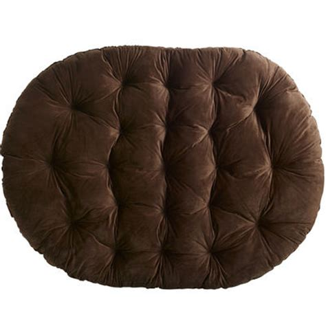 plush chocolate brown double papasan cushion pier 1 imports