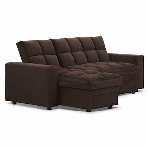 Metro 2 pc chaise sofa bed w storage american for Metropolitan sectional sofa chaise