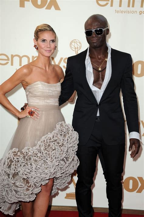 Heidi Klum And Seal Couples On Emmys Red Carpet 2011