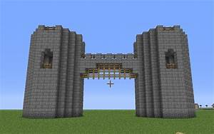 minecraft castle wall exterior | Basic Castle / Fortress ...