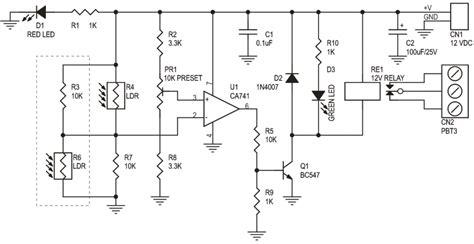 Light Dark Sensitive Switch Electronics Lab