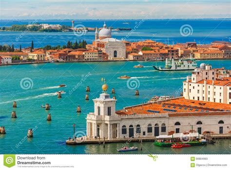 View From Campanile Di San Marco To Venice Italy Stock