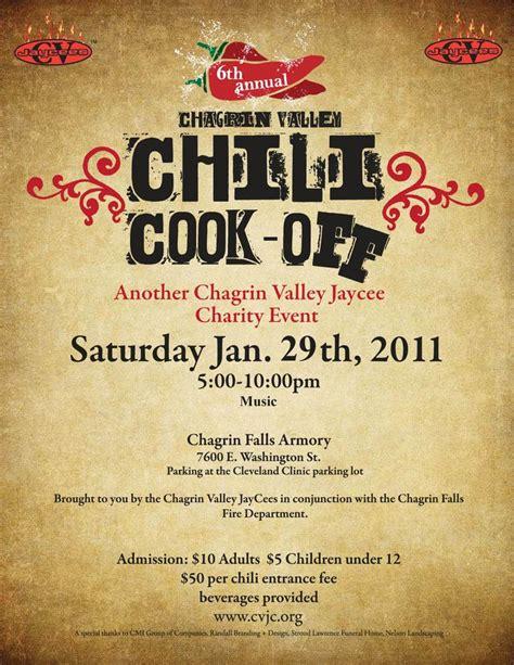 chili cook  flyer template  printable wowcom