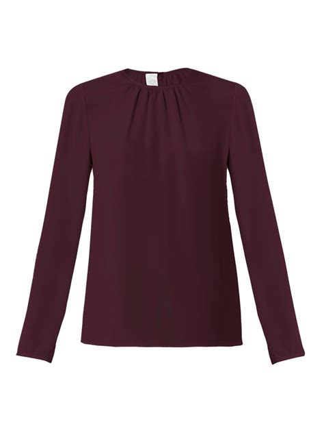 lyst goat sophia longsleeve blouse  red