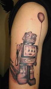 Back Arm Design Robot Tattoos Designs Ideas And Meaning Tattoos For You