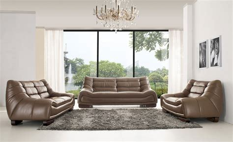Modern and classic Italian leather living room sets