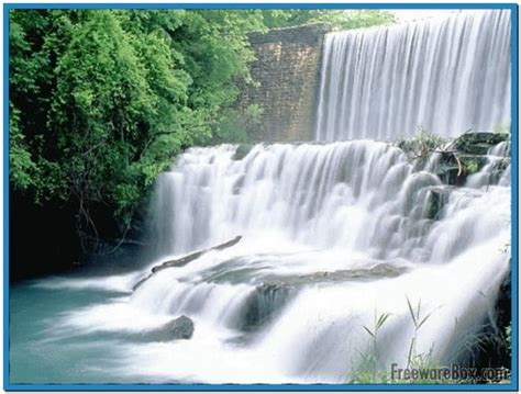 Living Waterfalls Animated Wallpaper - moving waterfall screensaver with sound free