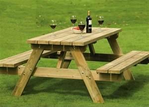 Table Et Banc De Jardin : table de jardin et banc en bois ~ Melissatoandfro.com Idées de Décoration