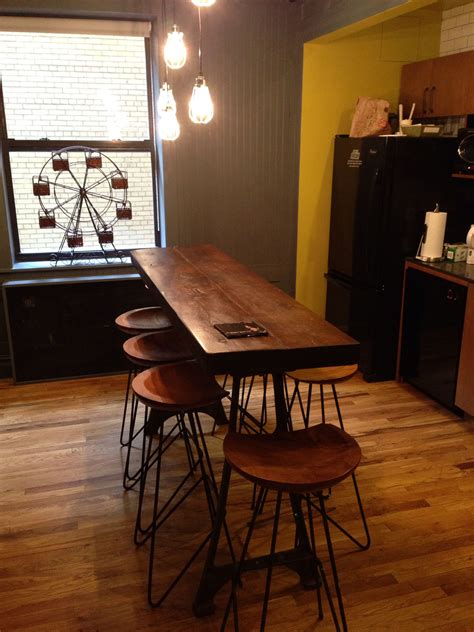 Kitchen Bar Table by Narrow Kitchen Island Breakfast Bar Home Design In