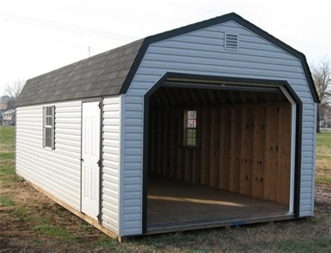 one car garage vinyl amish built 1 car garages for in virginia and