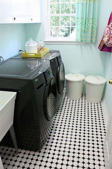 black  white laundry room ideas homemydesign