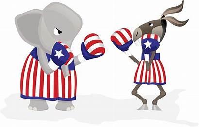 Republican Democrats Boxing Graphic