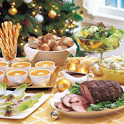 Christmas dinner is a meal traditionally eaten at christmas. Traditional Christmas Dinner Menus & Recipes | MyRecipes