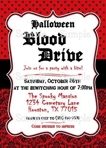 printable halloween vampires personalized blood drive