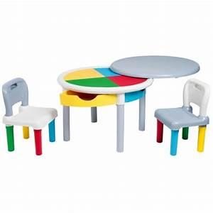 Table Enfant Avec Rangement : table de construction multicolore et ses deux chaises izibul cr ation oxybul pour enfant de 2 ~ Melissatoandfro.com Idées de Décoration