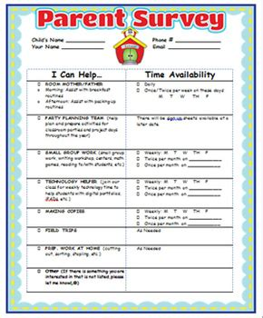 parent involvement survey and certificate by oodles for 642 | original 925974 2