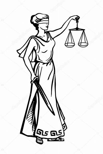 Justice Lady Scales Holding Justitia Vrouwe Weegschaal