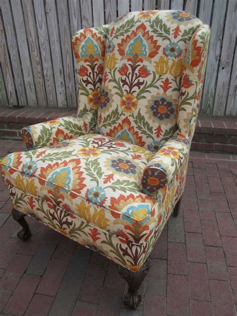 8 Best Wingback Chair  Fabric Inspiration Images On