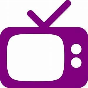 Free purple tv icon  Download purple tv icon