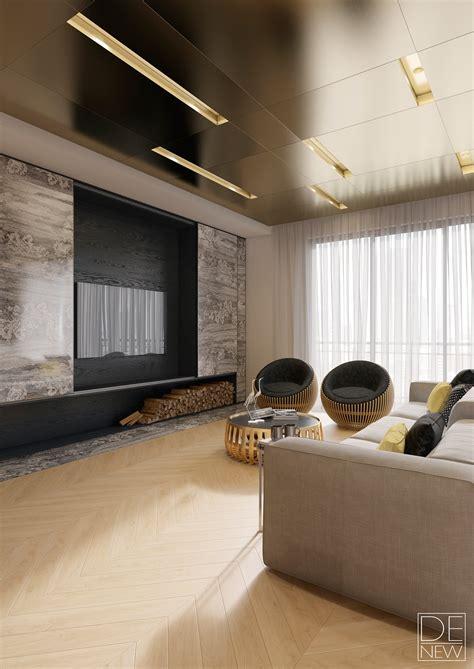 Brass Ceiling Interior Design Ideas A Cozy Social Area
