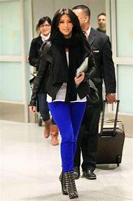 Kim Kardashian Blue Jean Outfit