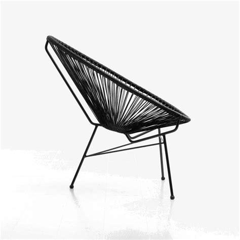 fauteuil de jardin majorque en resine tressee ronde noir
