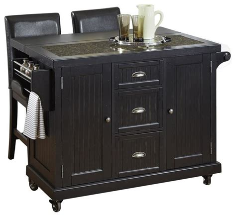 black distressed kitchen island distressed black kitchen cart and two stools