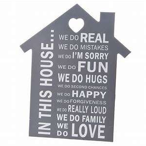 In This House House Shaped Wall Plaque (SHOP) - from