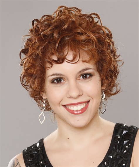Short CurlyHairstyle with Layered Bangs