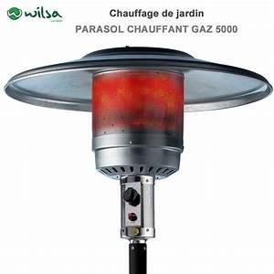 Parasol Chauffant A Gaz : parasol chauffant au gaz 5000 w noir600110 wilsa garden ~ Teatrodelosmanantiales.com Idées de Décoration