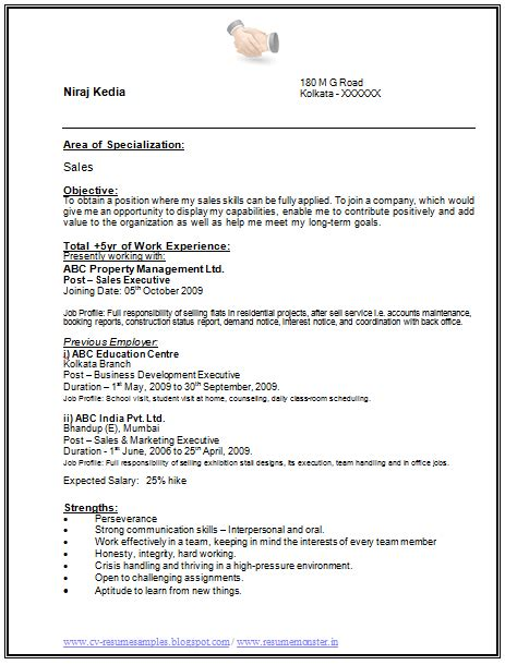 i more than 5 years of experience resume page 1