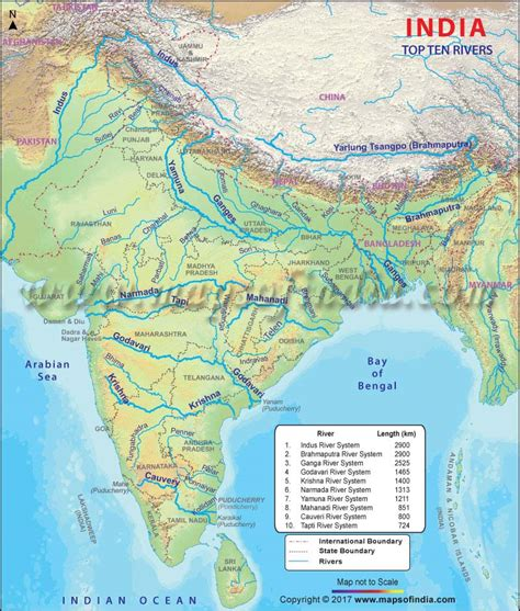 india map  cities  rivers