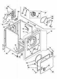 Cabinet Parts Diagram  U0026 Parts List For Model Ler4634pq1 Whirlpool